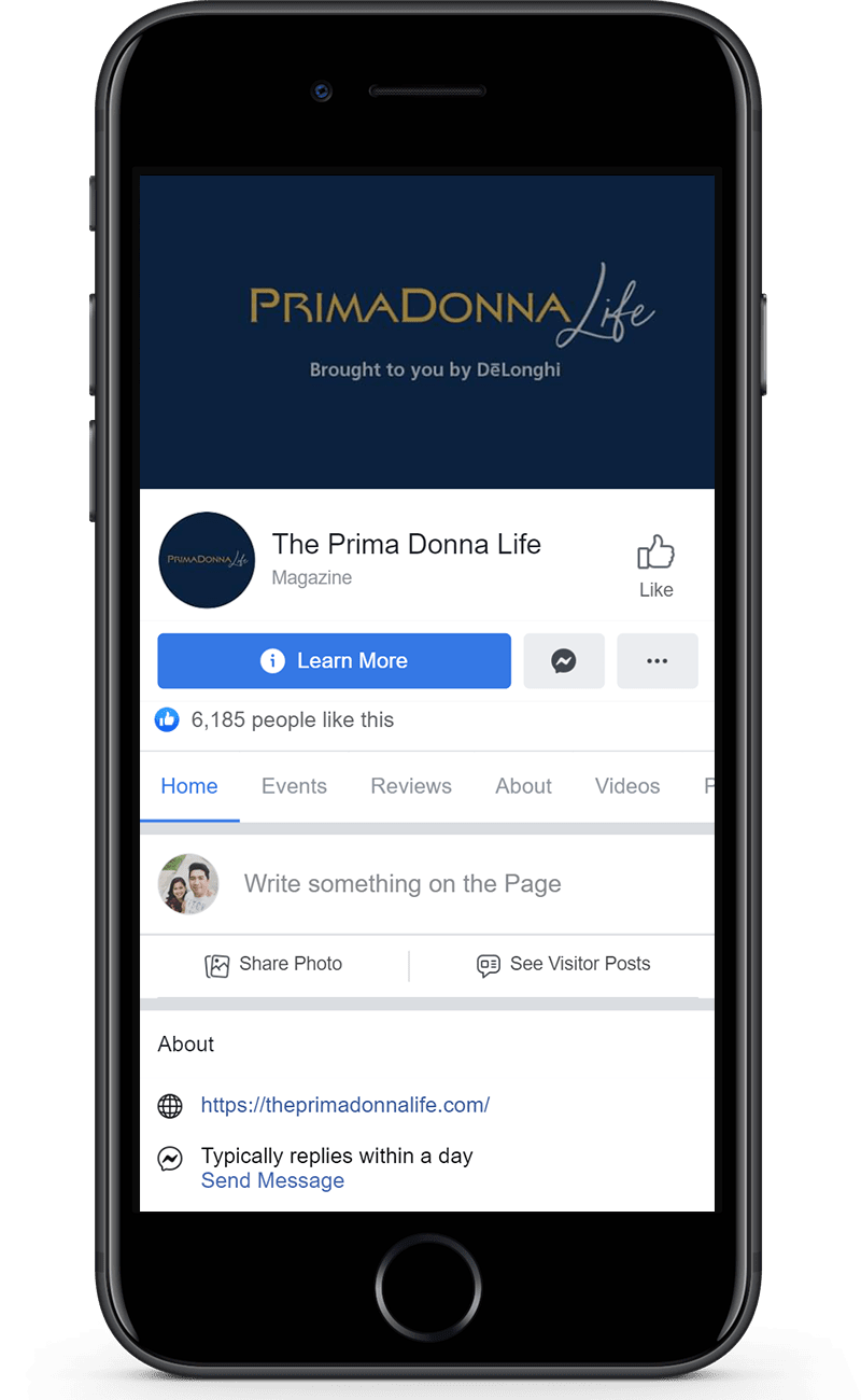 the prima donna life facebook page
